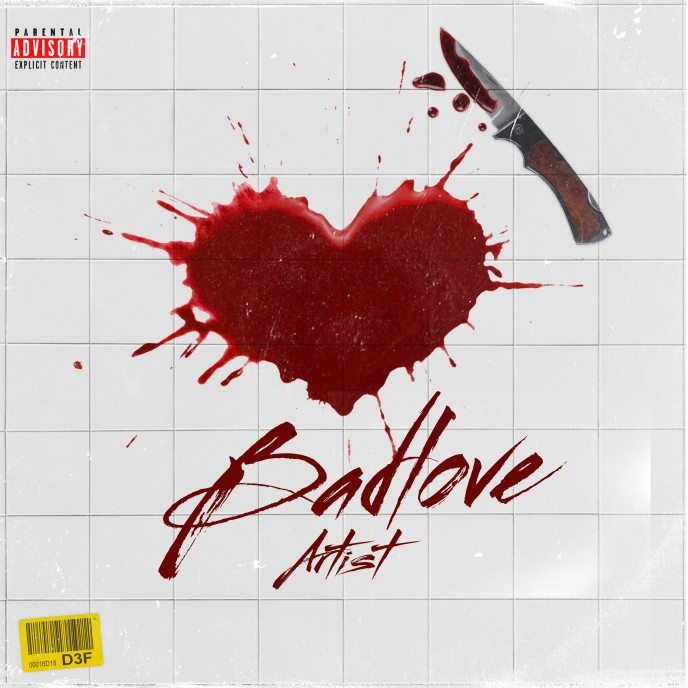 BadLove CD Cover Music Template Sampul Album