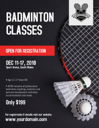 Badminton Classes Flyer Template