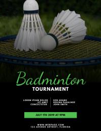 Badminton Flyer Design Template
