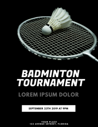Badminton Flyer Design Template