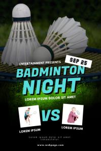 Badminton Flyer Template