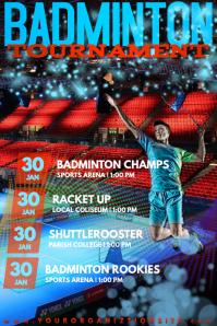 Badminton Sports Racket Shuttlecock Net Tournament Stadium