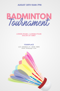 Badminton Tournament Flyer Design Template Poster