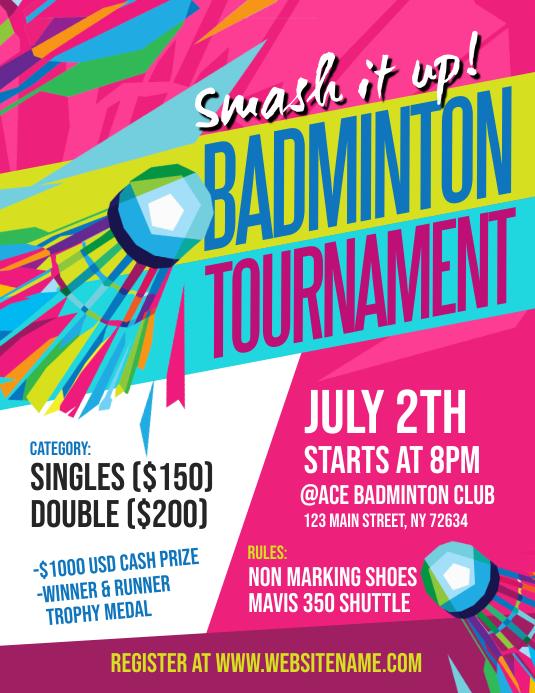 Badminton Tournament Flyer