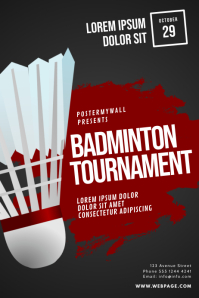 Badminton Tournament Flyer Design Template