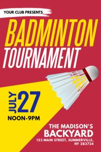 Badminton Tournament Poster