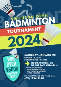 Badminton Tournament Flyer Template