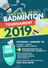 Badminton Tournament Flyer Template