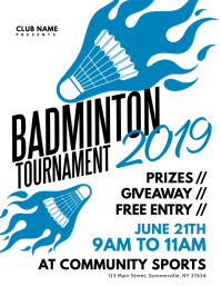 Badminton Tournament Flyer