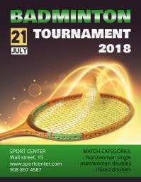 Badminton Tournament Schedule Flyer Template