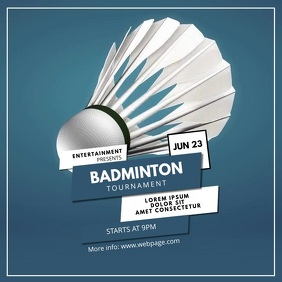 Badminton Video Design for instagram