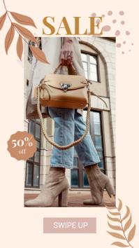 Bag and Shoes Sale banner Historia de Instagram template