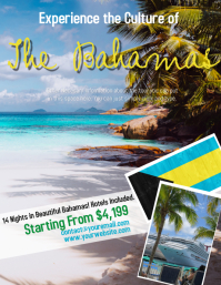 Bahamas Tour Travel Flyer Template