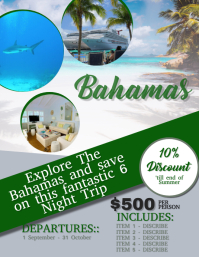 Bahamas Travel Flyer Template