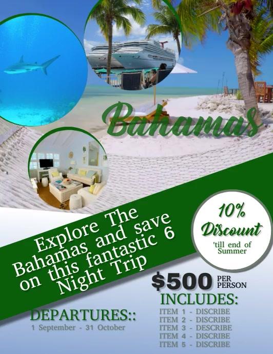 Bahamas Travel Flyer VIDEO DIGITAL Template