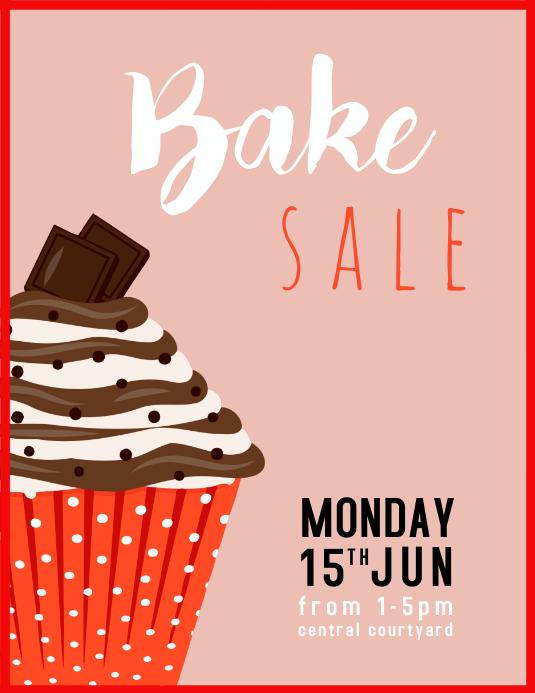 Bake Cupcake Cake Sale 传单(美国信函) template