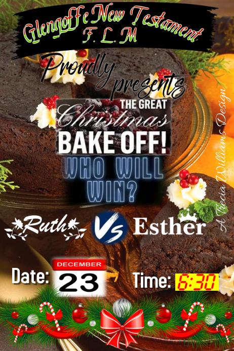 Bake Off 2016 海报 template