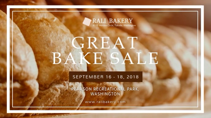 Bake Sale Advertisement Digital Display Video