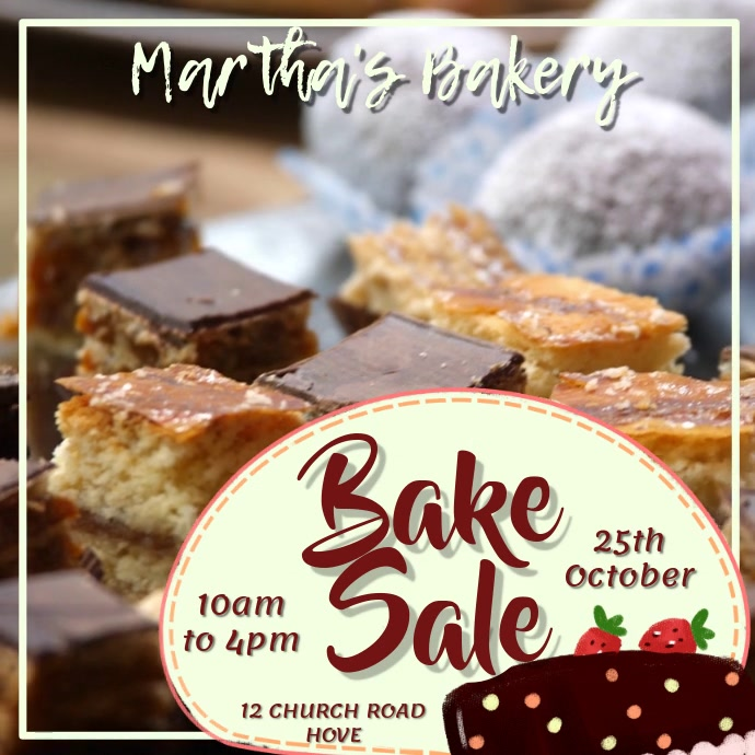 Bake Sale Bakery Video Template
