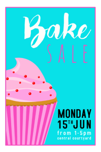 Bake Sale Blue Poster template