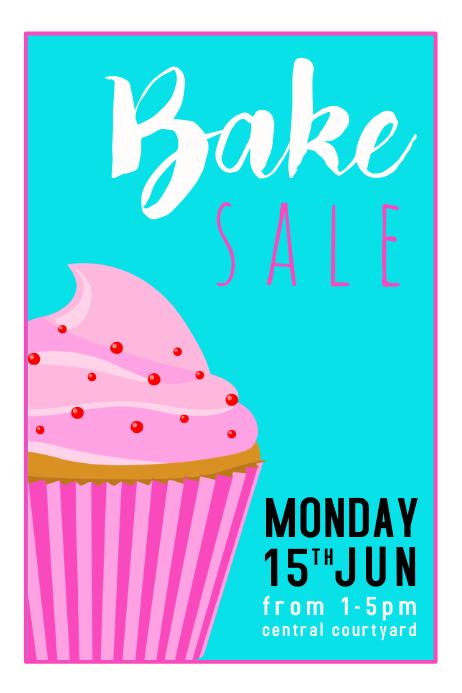 Bake Sale Blue 海报 template