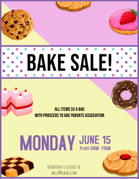 Bake sale cake stall Flyer
