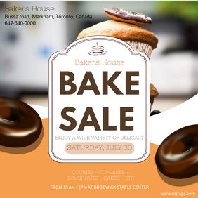 bake sale Instagram Post template