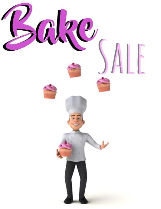 Bake Sale 传单(美国信函) template