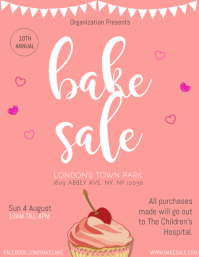 photograph relating to Free Printable Bake Sale Signs named 500+ Bake Sale Customizable Layout Templates PosterMyWall