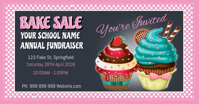 Bake Sale Facebook Event Cover