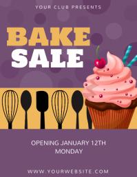 Bake sale flyer, Cupcake flyer, Event flyer