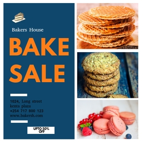 BAKE SALE FLYER 2020 Instagram Post template
