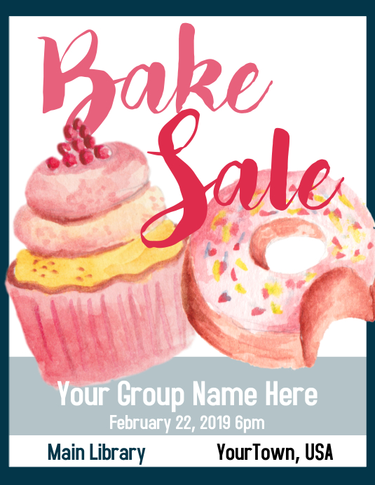 Bake Sale Flyer 传单(美国信函) template