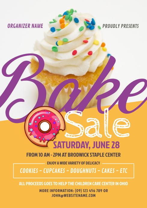 Bake Sale Flyer A4 template