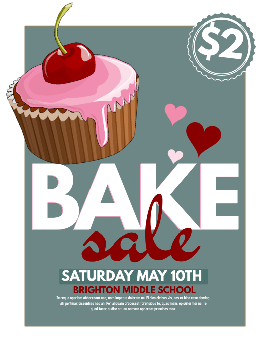 bake sale flyers free flyer designs - 533×690