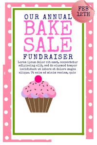 9 070 Customizable Design Templates For Bake Sale Postermywall