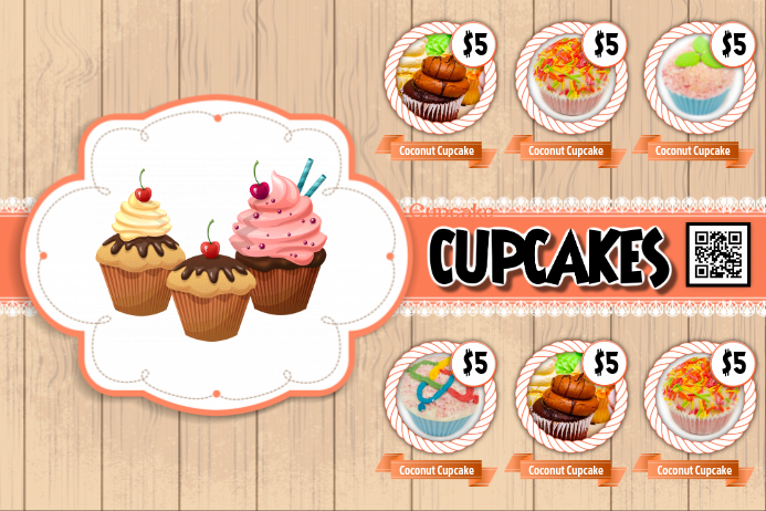 Exceptional Bake Sale Flyer Template   Current Theme: Cupcake