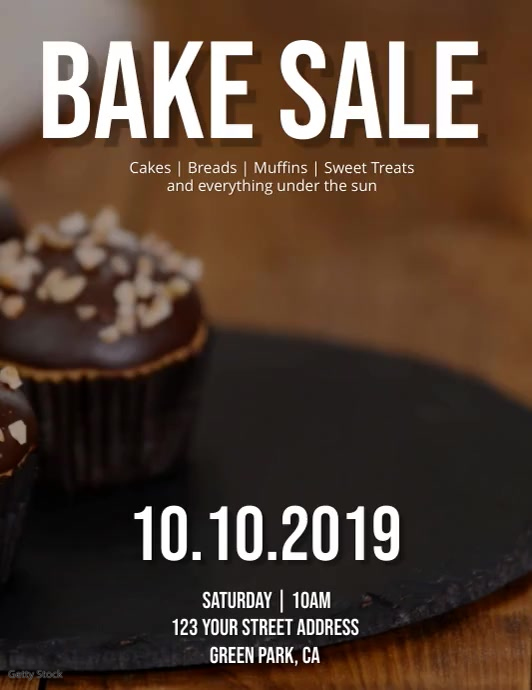 Bake Sale Flyer Template