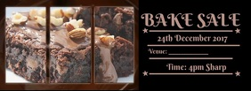 Bake sale Couverture Facebook template