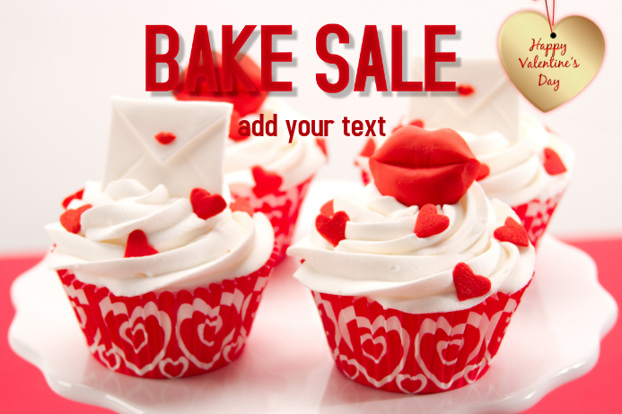 bake sale Póster template