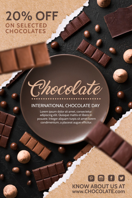 Chocolate Flyers Template PosterMyWall