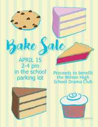 Bake Sale fund raiser template