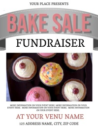 Bake Sale Fundraiser Event Flyer Template