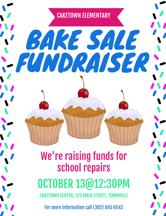 Bake Sale Fundraiser Flyer Template | PosterMyWall