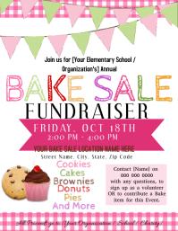 Bake Sale Fundraiser Flyer Template