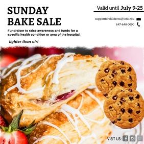 bake Sale Fundraiser Invitation Instagram Post template
