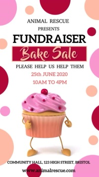 Bake Sale Fundraiser Video Template Digital Display (9:16)