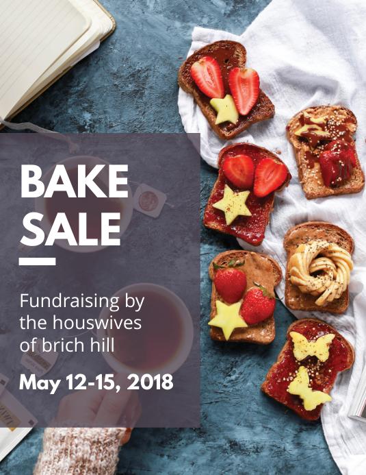 Bake Sale Fundraising Flyer Template 传单(美国信函)