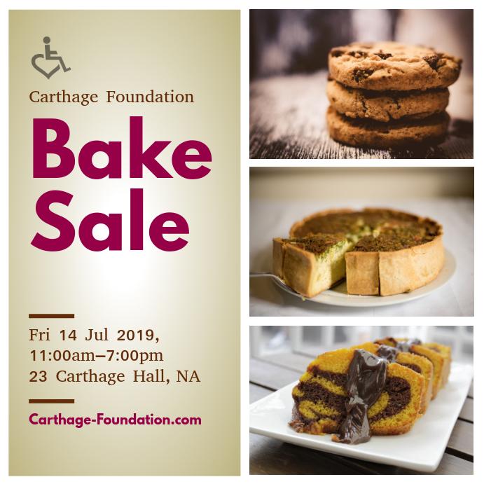 Bake Sale Fundraising Instagram Template
