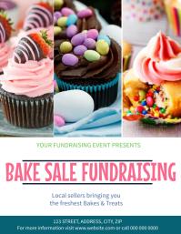 Bake Sale Market Event Flyer template